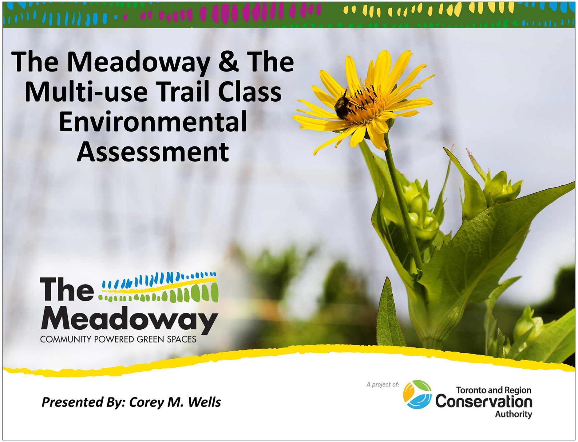 cover page of The Meadoway Multi-Use Trail Class Environmental Assessment presentation