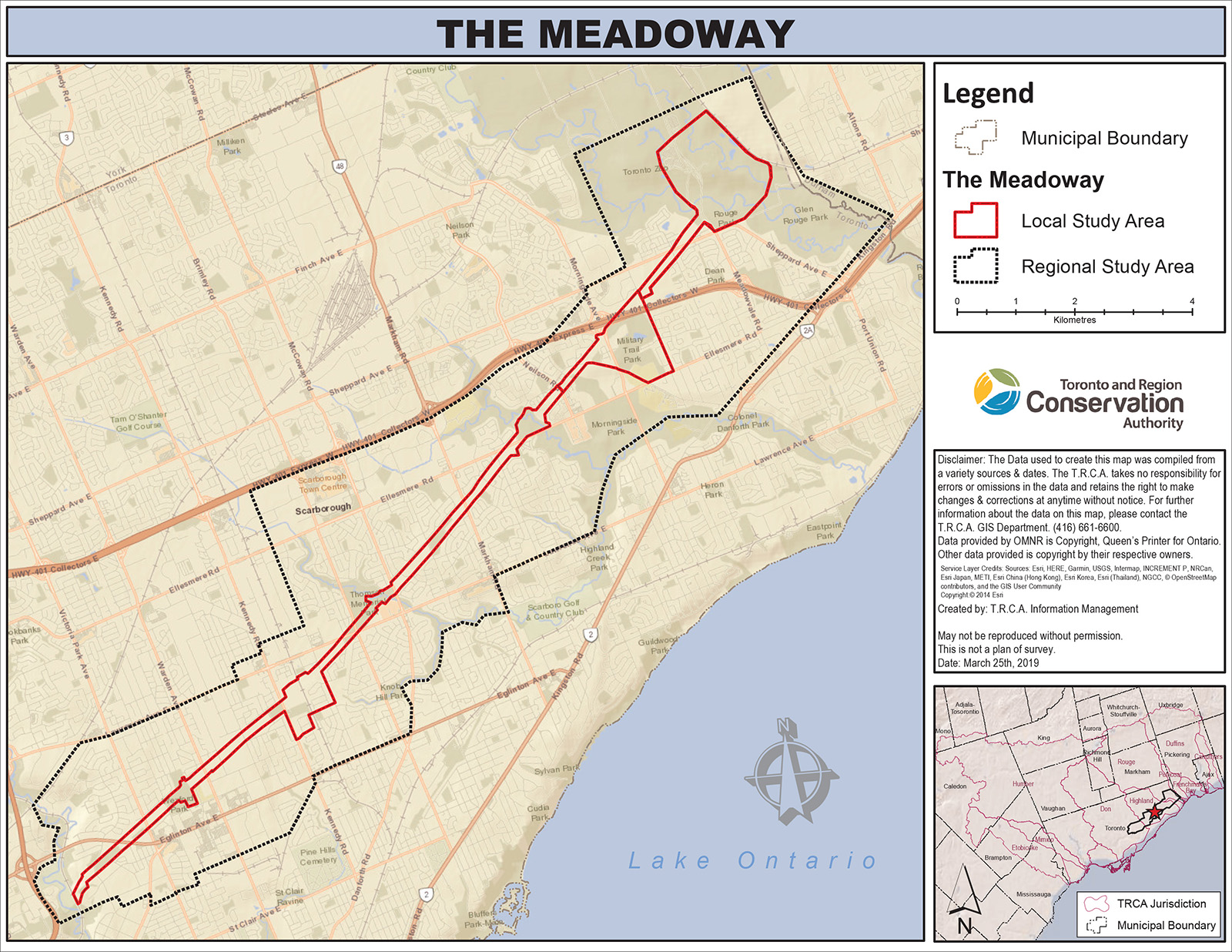 The Meadoway study area map