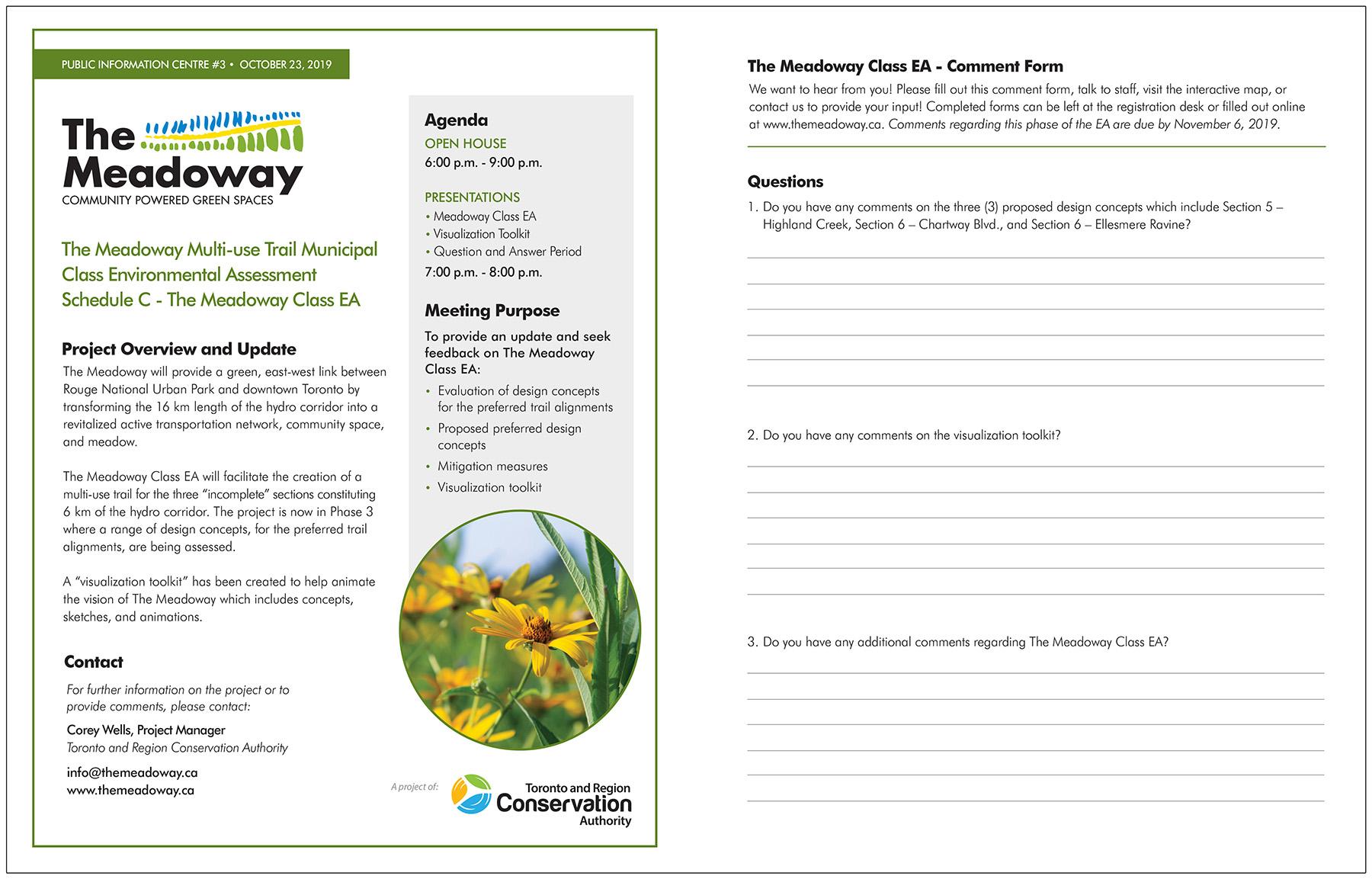 Meadoway Public Information Centre handout