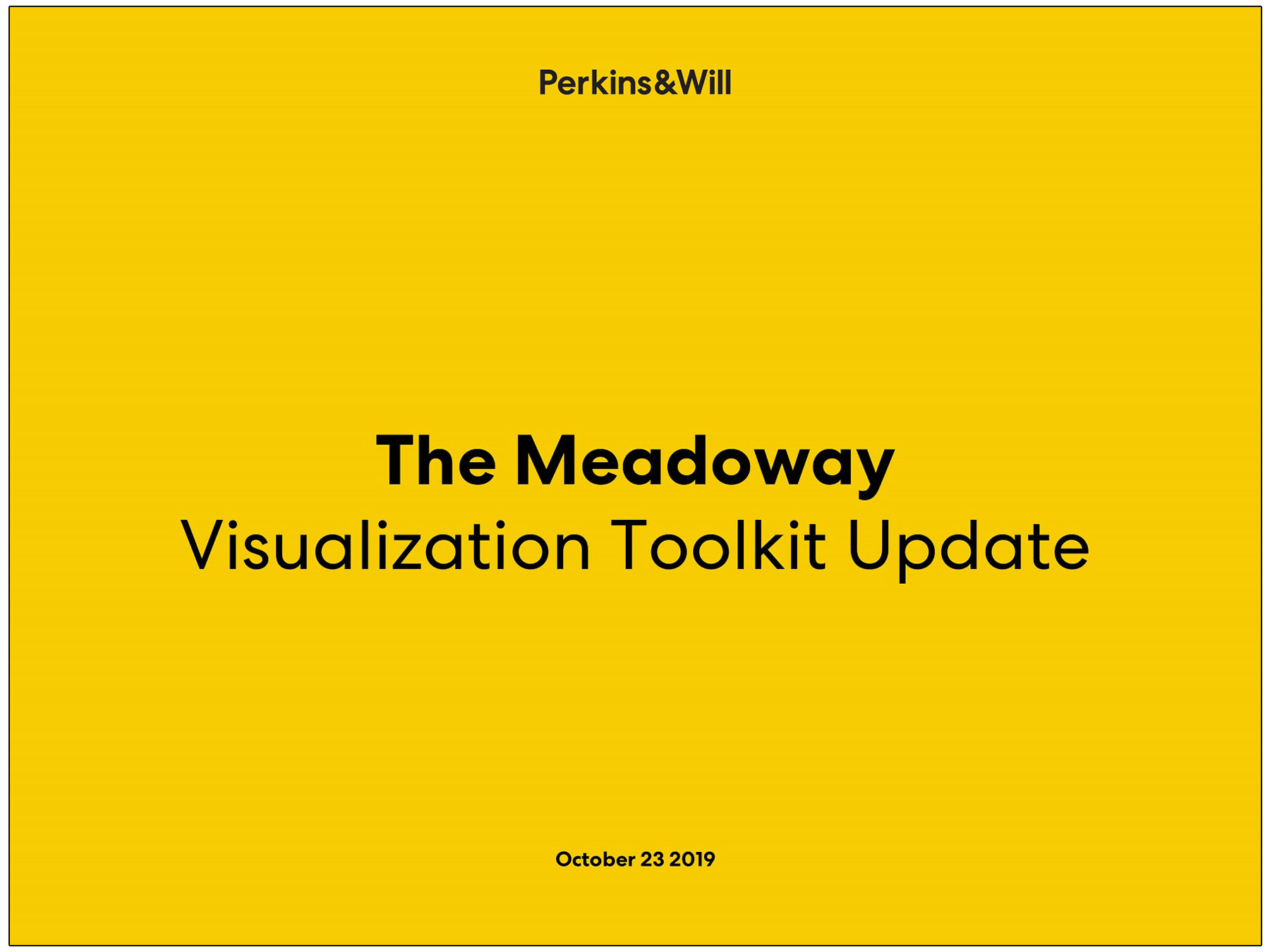 cover page of Meadoway visualization toolkit update presentation