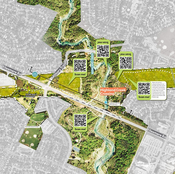 section of The Meadoway map
