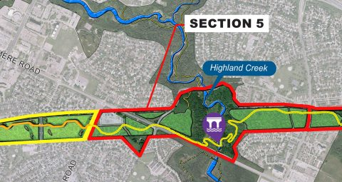 map of The Meadoway section 5 Highland Creek