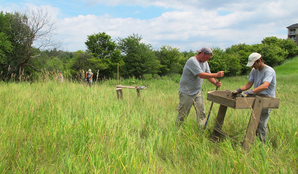 TRCA archaeologists conduct field work