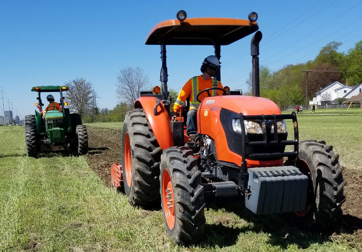 TRCA restoration team at work in The Meadoway