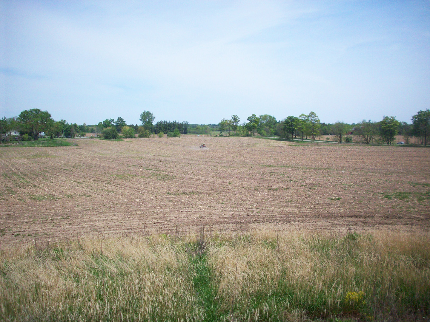 Rouge National Urban Park meadow restoration project seen in 2010 as seeding begins