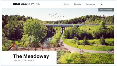 screen shot of The Meadoway page on the High Line Network website