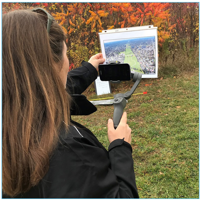 TRCA educator conducts e-learning livestream video on location in The Meadoway